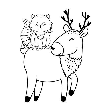 cute animals woodland characters vector illustration design Foto de archivo - 129909361