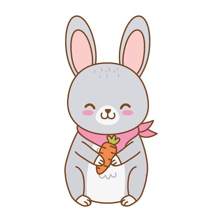 cute rabbit woodland character vector illustration design Foto de archivo - 129910159