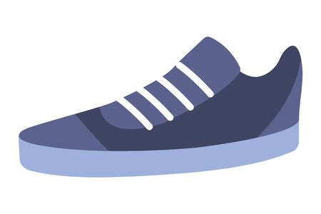 Casual sport shoe style young fashion quality isolated isolated vector illustration graphic design