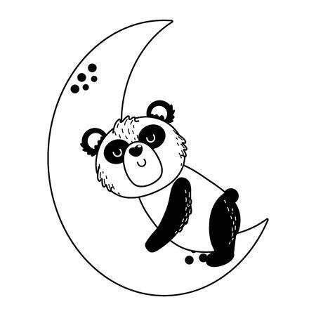 Panda cartoon design vector illustration