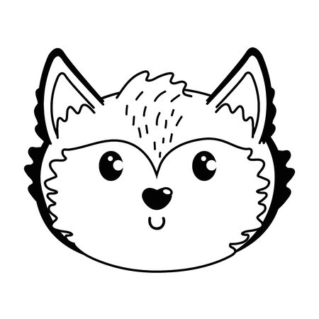 Fox cartoon design vector illustration Illusztráció