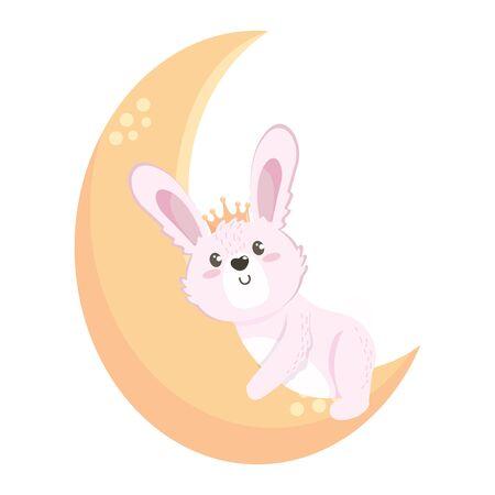 Isolated rabbit cartoon design vector illustration