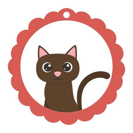 Cat cartoon design, Mascot pet animal domestic cute life nature and fauna theme Vector illustration