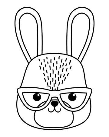 Rabbit cartoon design, Animal cute zoo life nature and fauna theme Vector illustration