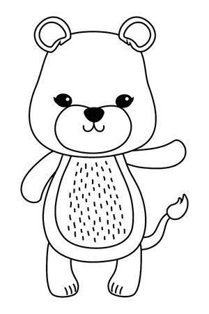 Lioness cartoon design, Animal cute zoo life nature and fauna theme Vector illustration Illusztráció