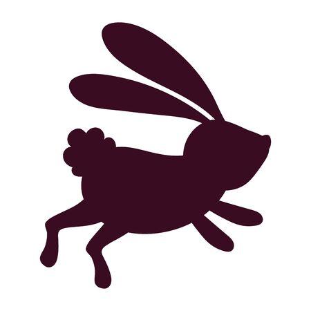 Isolated rabbit silhouette vector design