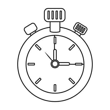 chronometer time clock stopwatch cartoon Иллюстрация