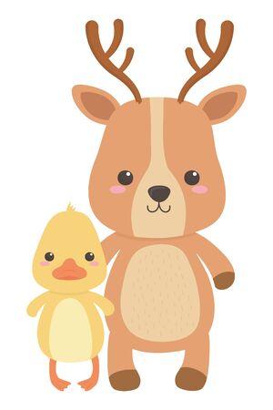Duck and reindeer cartoon design