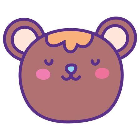 Isolated bear cartoon vector design
