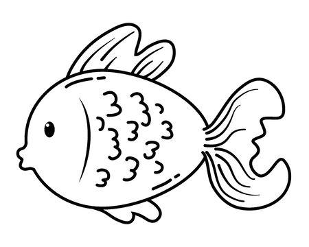 Fish cartoon design vector illustration