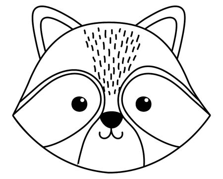 Raccoon cartoon design vector illustration