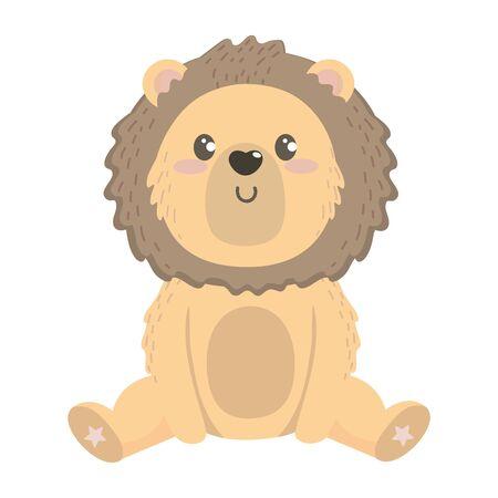 Isolated lion cartoon design vector illustration Illusztráció