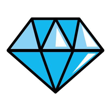 Isolated diamond gem icon design vector illustration Çizim