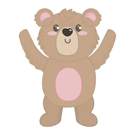Isolated bear cartoon design vector illustration