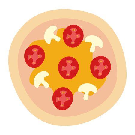 delicious italian pizza fast food vector illustration design