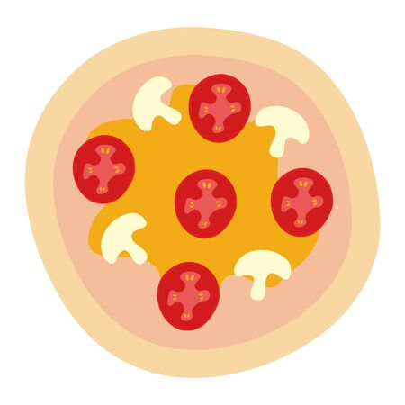 delicious italian pizza fast food vector illustration design Stockfoto - 130006217