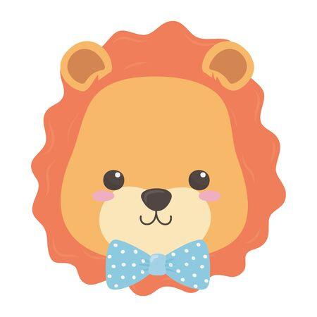 Lion cartoon with bowtie design