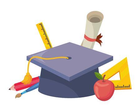 Isolated graduation design  vector illustration