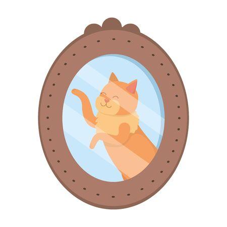 Cat cartoon design vector illustration