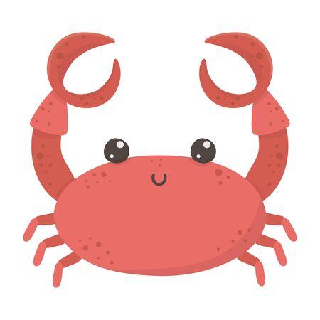 Isolated crab cartoon design vector illustration