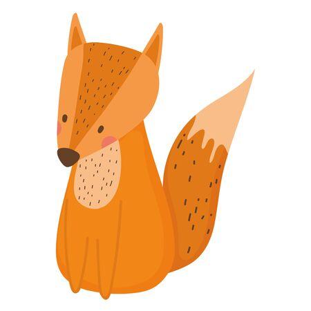Fox cartoon vector design vector illustration Illusztráció