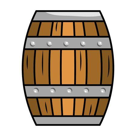 Isolated wood barrel design vector illustration
