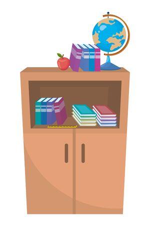 Isolated school furniture design vector illustration