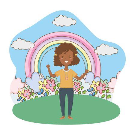 Teenager girl design, Female people young teen beautiful and woman theme Vector illustration Illusztráció