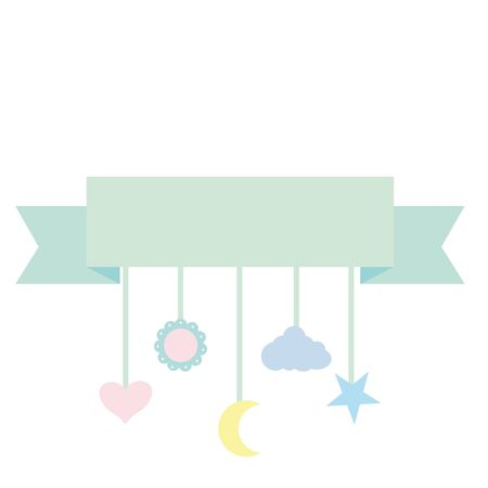 mobile pendant baby toy accessory vector illustration design