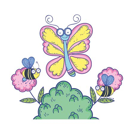 beautiful butterfly flying character vector illustration design Foto de archivo - 130114926