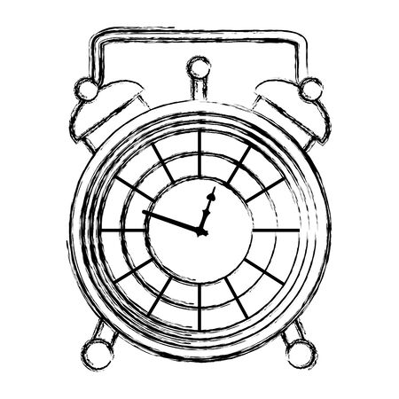 grunge luxury desk clock object design vector illustration