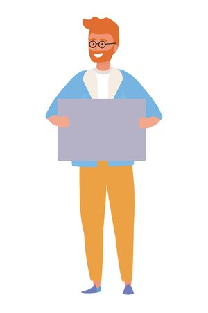 Avatar of a man design, Boy male person human and attractive theme Vector illustration