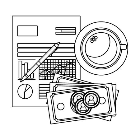 saving money finance elements cartoon vector illustration graphic design 向量圖像