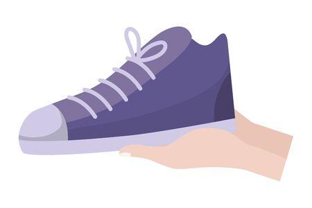 Shoe design, Cloth fashion style wear shop retail and store theme Vector illustration Illusztráció
