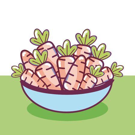 natural vegetables cartoons  イラスト・ベクター素材