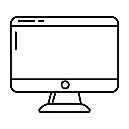 technology device computer pc screen cartoon vector illustration graphic design Reklamní fotografie - 130133436