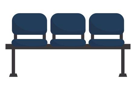 modern furniture chairs cartoon vector illustration graphic design