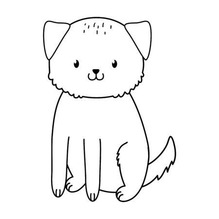 cute dog woodland character vector illustration design Foto de archivo - 130150316