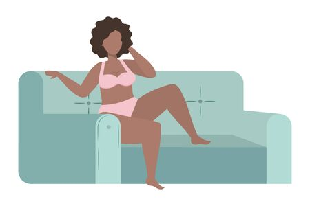 Avatar of a fashion woman in underwear design, Girl female person human and beauty theme Vector illustration