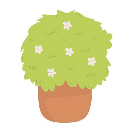 Plant design, Garden ornament nature botany summer natural and floral theme Vector illustration Иллюстрация