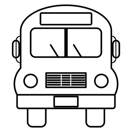 bus school vehicle transport icon vector illustration design Ilustracja