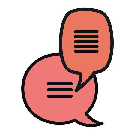 speech bubbles messages icons vector illustration design