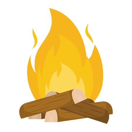 Isolated wood and flame design Иллюстрация