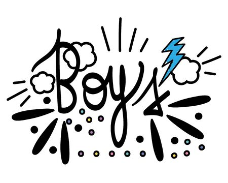 Isolated boys word vector design