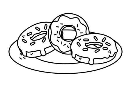 Sweet and delicious donuts design  イラスト・ベクター素材