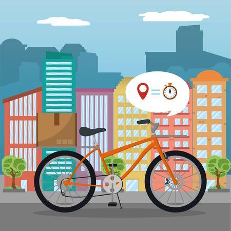 city delivery service order vector illustration graphic design