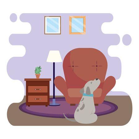 Dog cartoon design vector illustrator Stock Illustratie