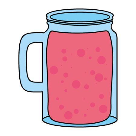 fresh juice fruit jar summer icon Ilustração