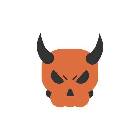 skull with horns trick or treat happy halloween