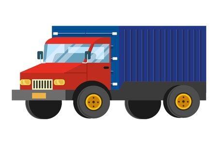 truck icon cartoon isolated vector illustration graphic design